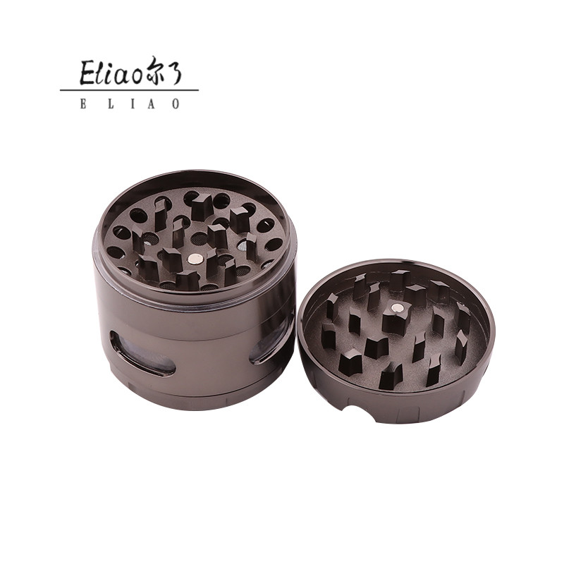 Yiwu Erliao Impressive Factory Direct Zinc alloy Tobacco Grinder Durable Use Classic style Grinder for herb