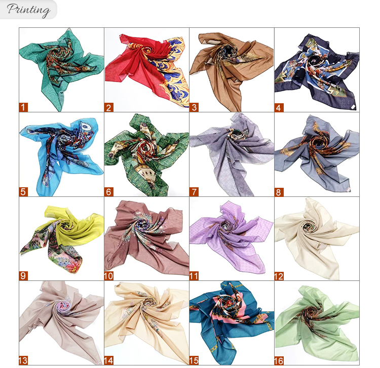 Hot sell kinds of color  polyester dyed scarf square polyester hijab women scarf