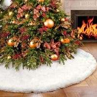 2020 Happy New Year Carpet Party Ornaments Christmas Decoration for Home Non-woven Tree Skirt Aprons