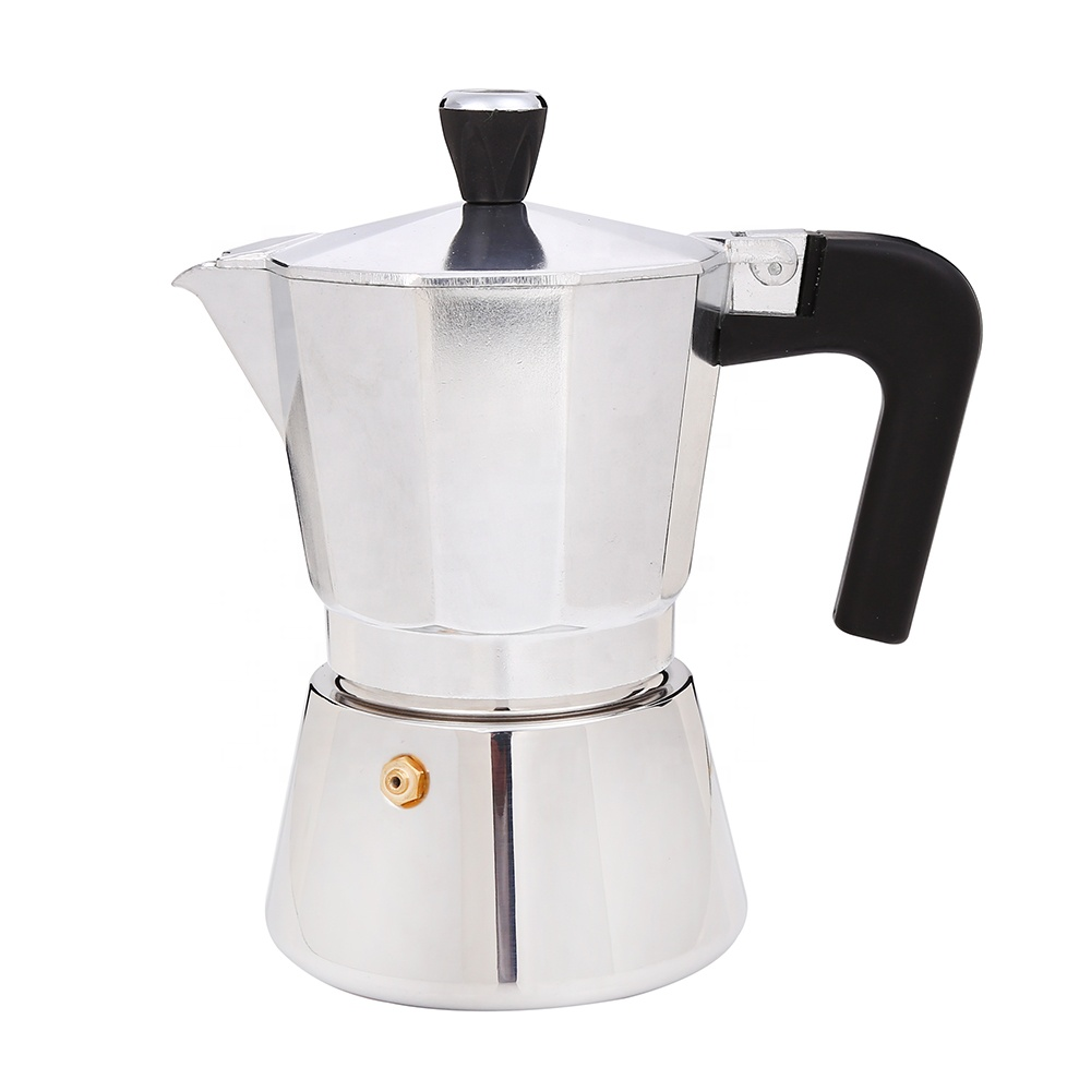 Hot selling professional manual  Aluminum and stainless steel  stove top moka coffee maker