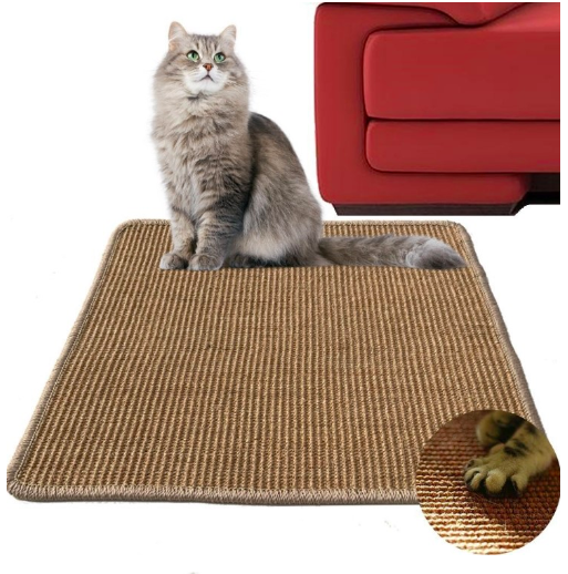 New Design Furniture Prevent Sisal customized size and color Cat Scratching mat