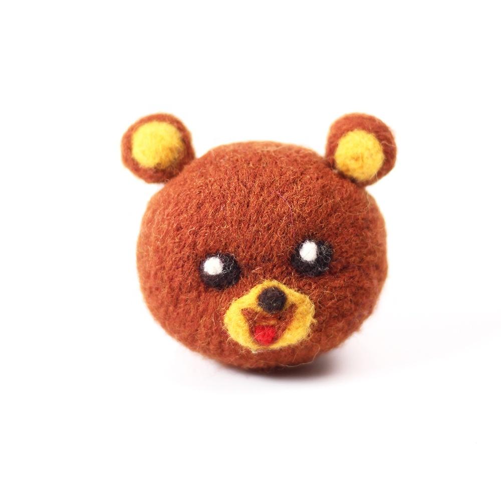 바늘 Felting 키트 펠트 공예 초보자 메리노 용품 귀여운 사랑스러운 곰 머리