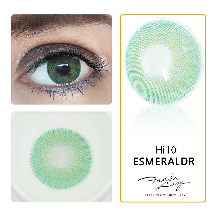 Dame fraîche en gros naturel couleur lentilles de contact cosmétiques