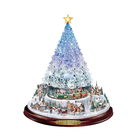 Christmas Rotating Sculpture Train Decor Wall Window Stickers Christmas Tree n0781
