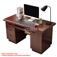 1.2m Length Simple Household Office Computer Table Writing Desk With 3 Drawer Storage Book Home Gaming PC Furniture Study Table
