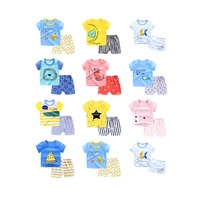 Hot Sale Summer Children's Clothing Sets 100 Different Design Baby Boy Clothing Sets 2pcs T-shirt kids clothes