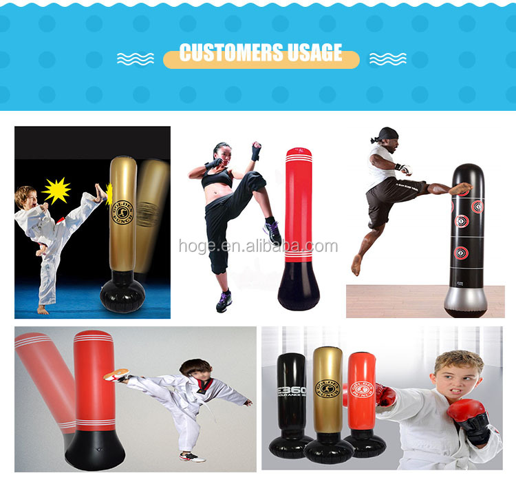 High quality CE standard inflatable stand boxing punching bag for playing