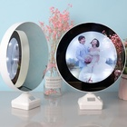 ABS ubs charging Wedding children's personal photo makeup mirror Round magic mirror photo frame