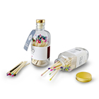 Glass bottle matches colorful matchsticks custom safety good quality matches