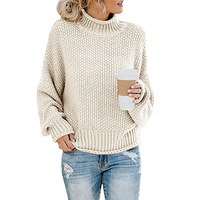 wool handmade winter chunky knitted women's sweater