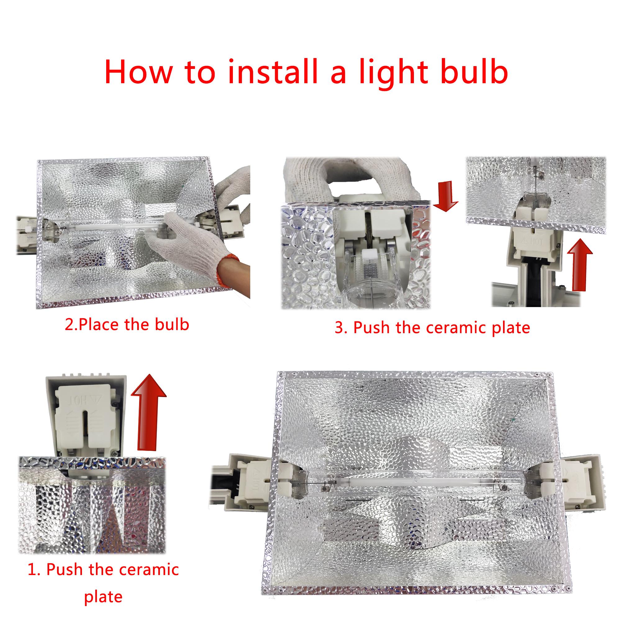 LEC 945W double ended grow light lamp with CMH 1000 watt 945 watt ceramic metal halide 1000watt used for indoor garden grow tent