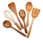 Natural Teak Wood Utensils Kitchen Ware Cooking Utensils Set