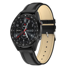 2020 PPG + ECG L7 Montre Intelligente Hommes Pleine Tactile Rond IP68 Imperméable Appel Bluetooth Bracelet Intelligent montre Android IOS