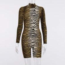 Hugcitar 2020, длинный рукав, тигровый Леопардовый принт, сексуальный, облегающий, пляжный костюм, Осень-зима, для женщин, уличная одежда, Клубная, ...(Китай)