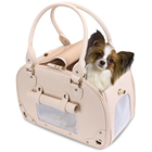 YPP-07 Luxury Pet Handbag Tote Folding Leather Dog Cat Pet Carrier Purse for Outside Travel