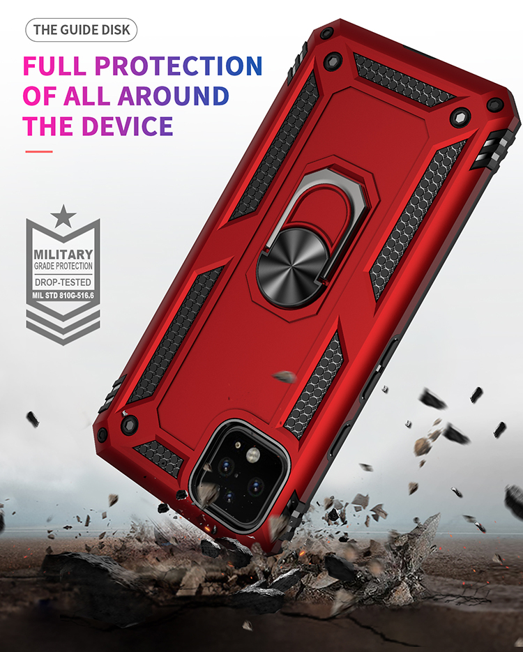 360 rotatable ring holder kickstand magnetic armor mobile phone case for google pixel 4 xl