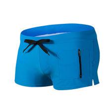 Быстросохнущие мужские сексуальные эластичные плавки для бодибилдинга с градиентом, пляжные шорты для плавания, трусы-боксеры с высокой та...(Китай)