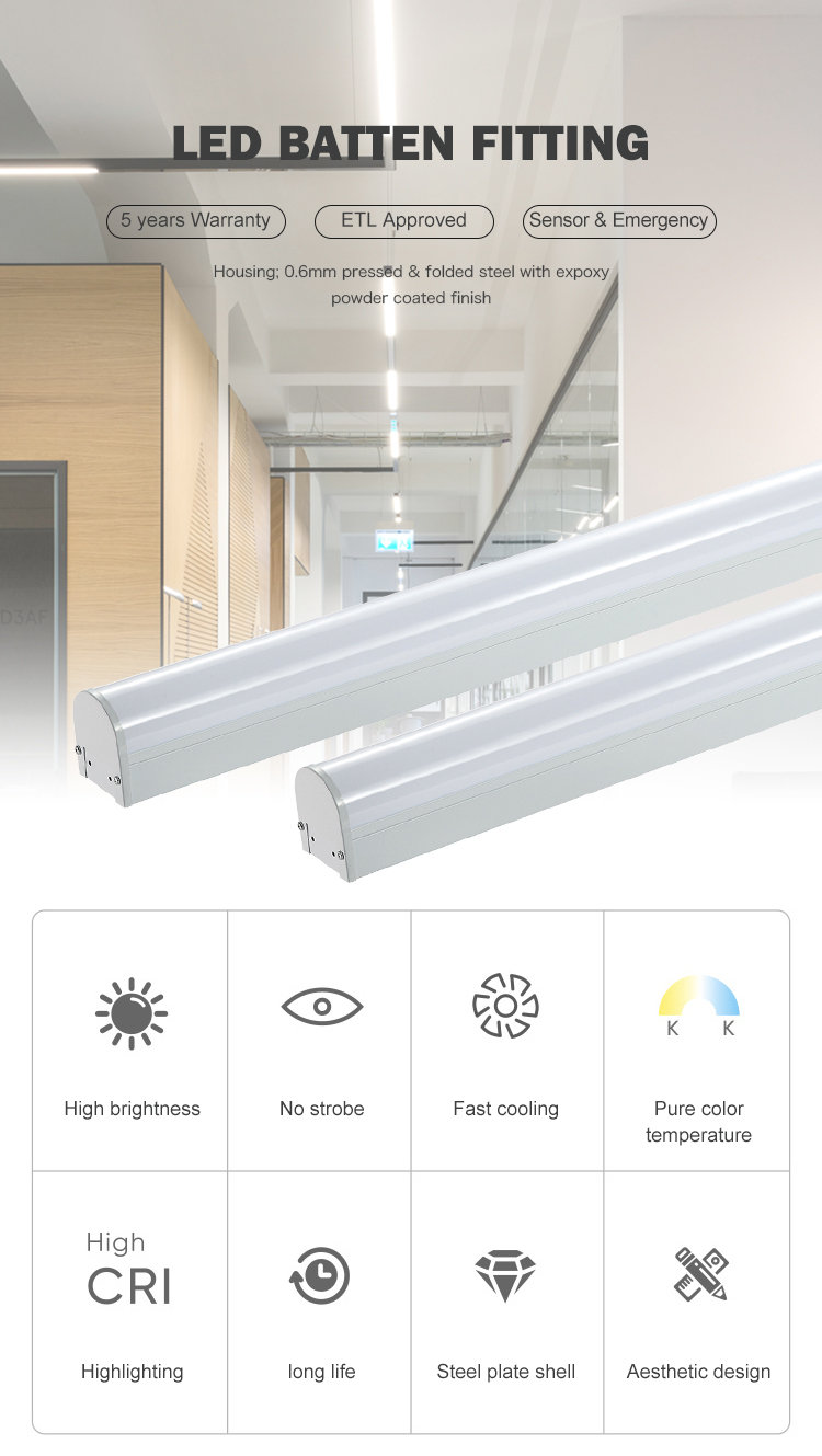 Hot sale conference room 2ft 4ft 8ft 18watt 24watt 36watt 42watt 68watt LED Light Fixture