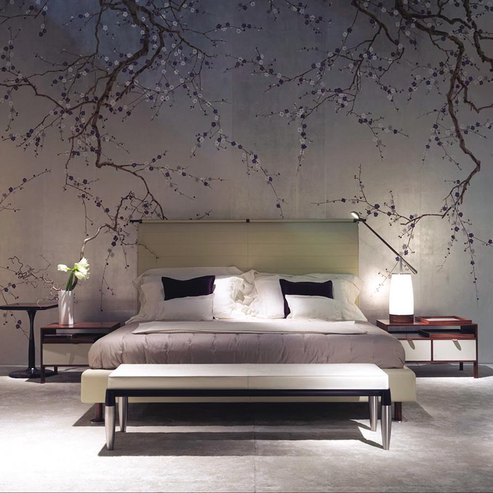 Carta Da Parati Tessuto chinoiserie wallpaper plum blossom non-woven hand made metallic wallpapers  - buy chinoiserie carta da parati,tessuto non tessuto di carta da