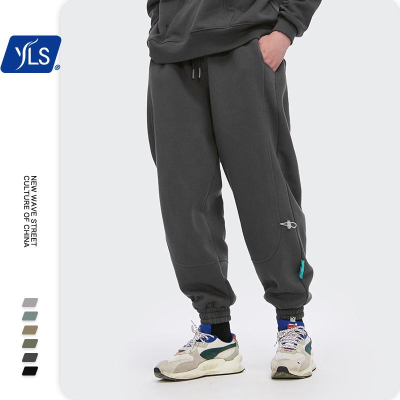 شخصية زي سوبر فضفاض صالح الرجال Sweatpants في لون نقي فضفاض صالح ريترو ستايل رجالي Sweatpants الشارع ارتداء الرجال السراويل
