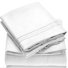 Bed Sheet Set - Brushed Microfiber 1800 Bedding - Wrinkle, Fade, Stain Resistant - Hypoallergenic - 4 Piece (Queen, White)