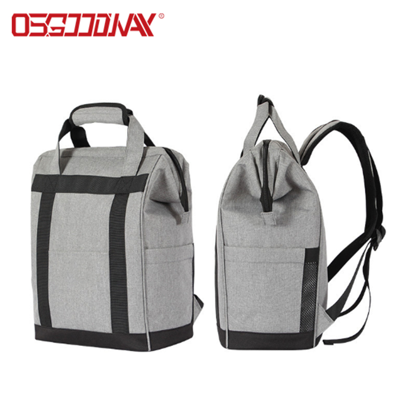 Osgoodway Large Capacity Lightweight Insulated Opening Foldable Fashion Lunch Bag Backpack for Camping Hiking Beach