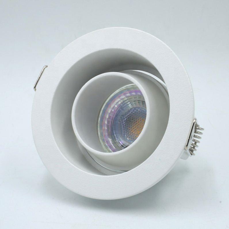 Anti glare narrow beam led spot light adjustable downlight recessed downlight housing