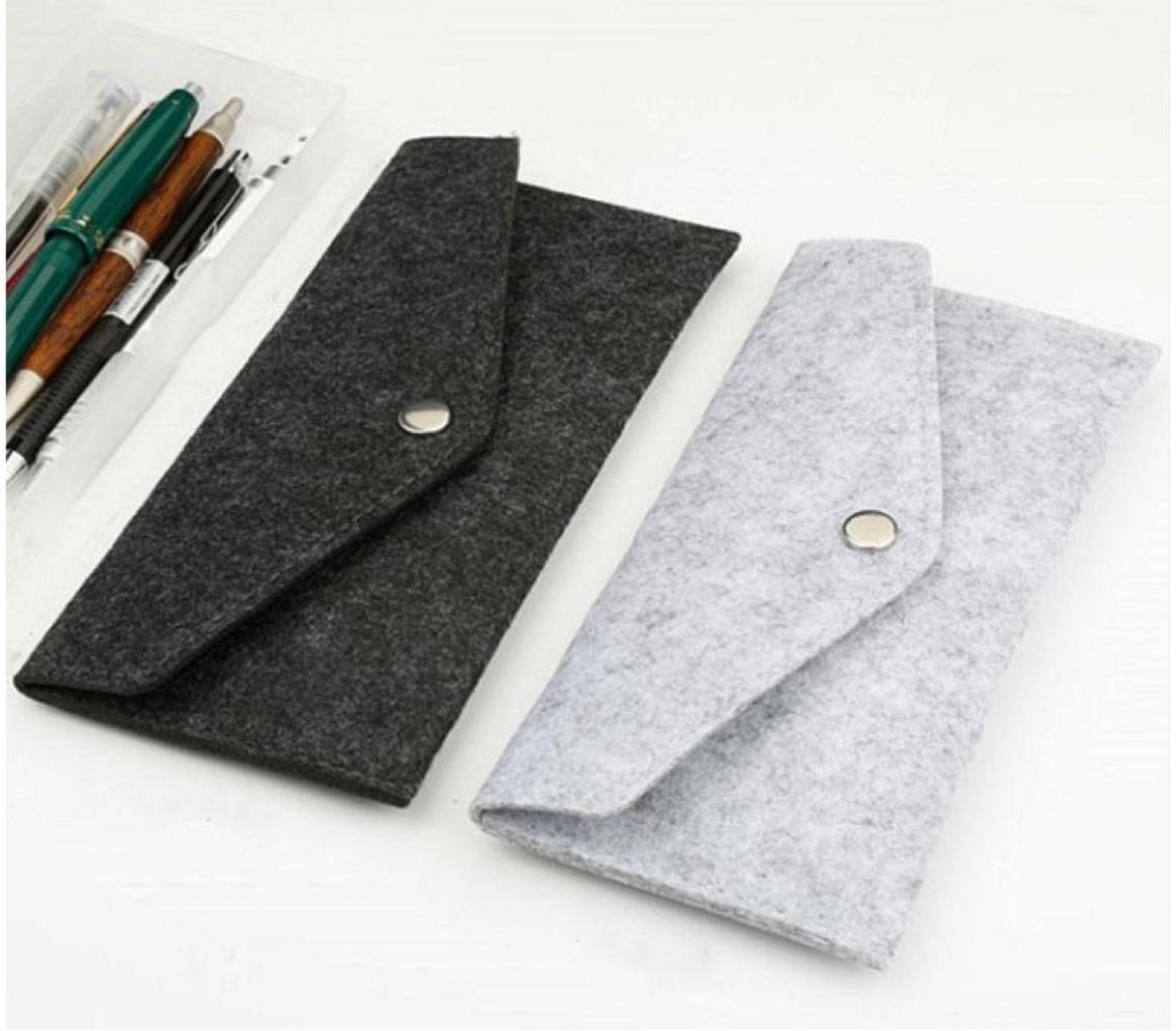 Felt Pencil Bags Travel Bag Makeup Organizer Bag Felt Pouch Bag For Pens for school/children/office