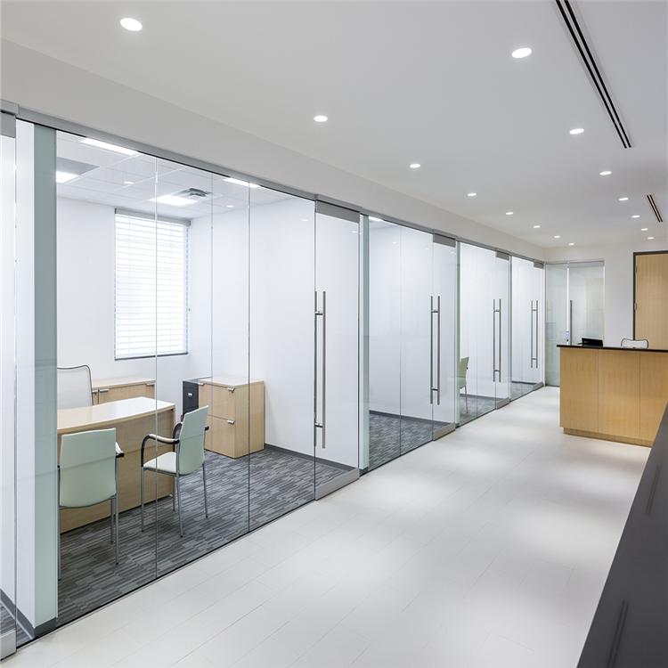 Rahmenlose glas büro partition, glas trennwand, transparente glas teiler für büro, hotel, restaurant