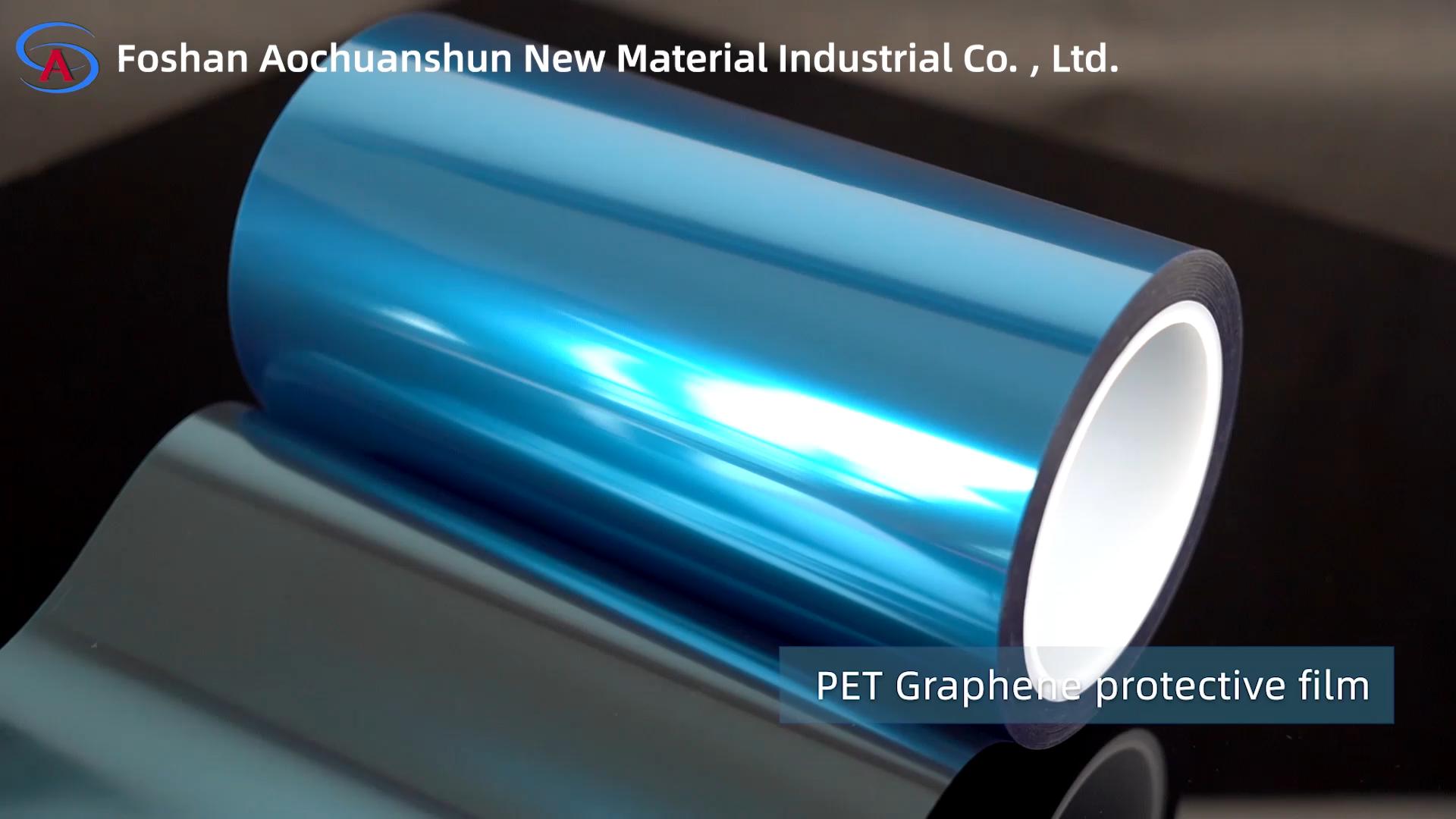 Hohe qualität silikon beschichtet graphene lithium-batterie pet blau schutzhülle film