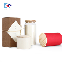 SENCAI wholesale custom size milk bottle carton packaging corrugated paper box with string
