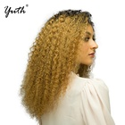 Hot Sale 14 Inches 360 Lace Wigs T1B/27 Gold Hair Bob Curly Wigs for Black Women Beauty