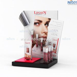 cosmetic makeup brush holder rotating acrylic lipstick holder / lipstick display stand rack/ spinning lipstick tower