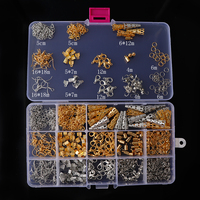 About 666pc Mix Gold Sliver Color Ring Crimp End Caps OT Lobster Clasp Hooks Ends Fastener Clasp Jewelry Making Sets Tool Kits
