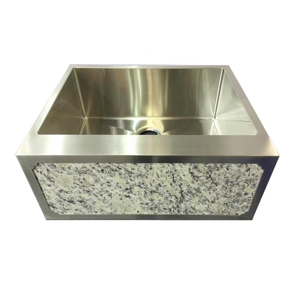 farmhouse sink stainless steel sink with stone apron sink