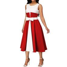 Лоскутное расширение размера плюс платье выпускного вечера сексуальные синие вечерние без рукавов, выпускные платья с бантом Элегантные д...(Китай)