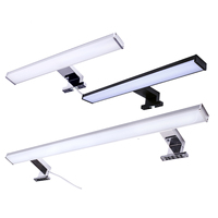 12W modern waterproof aluminium housing black bathroom mirror attached vanity wall light fixtures