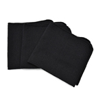 100% Cotton wholesale plain black waffle cleaning dish kitchen cloth