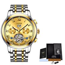 LIGE деловые мужские часы, топовые брендовые роскошные механические часы, мужские стальные часы с большим циферблатом, водонепроницаемые авт...(Китай)