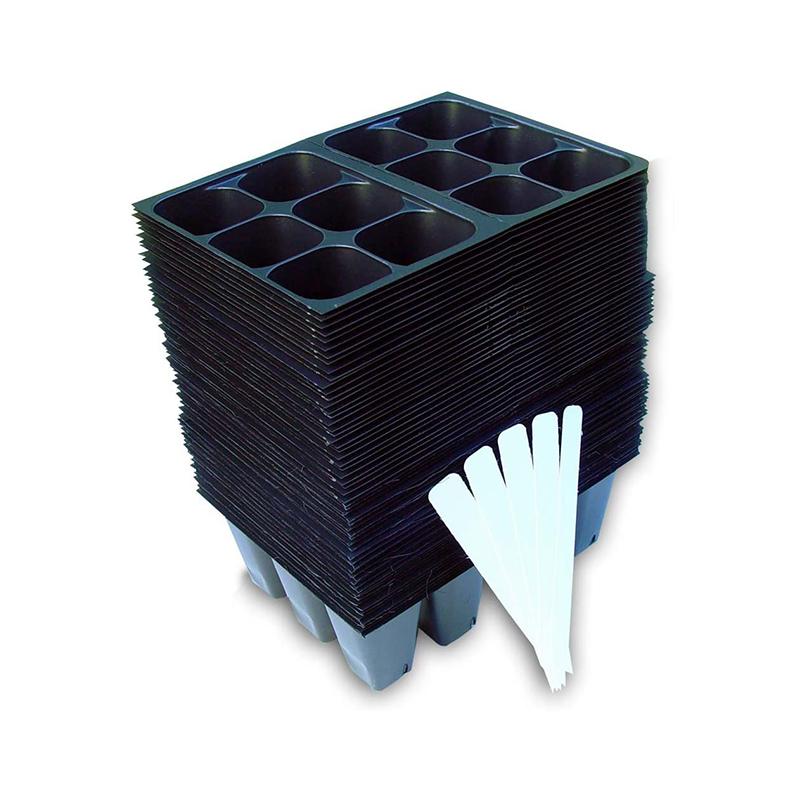 128, 144 de 512 células PS árbol PVC pequeño raíz de la planta vivero plana Biodegradable de germinación de plástico de arroz semillas bandeja