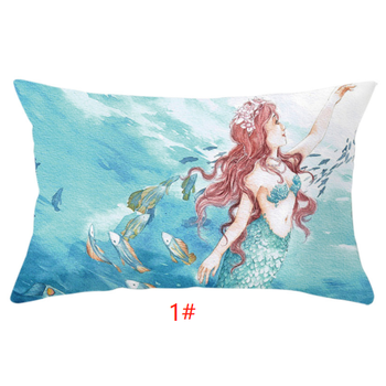 Wholesale blue pretty high quality Ocean Series beach decor backdrop pillow cases for safa