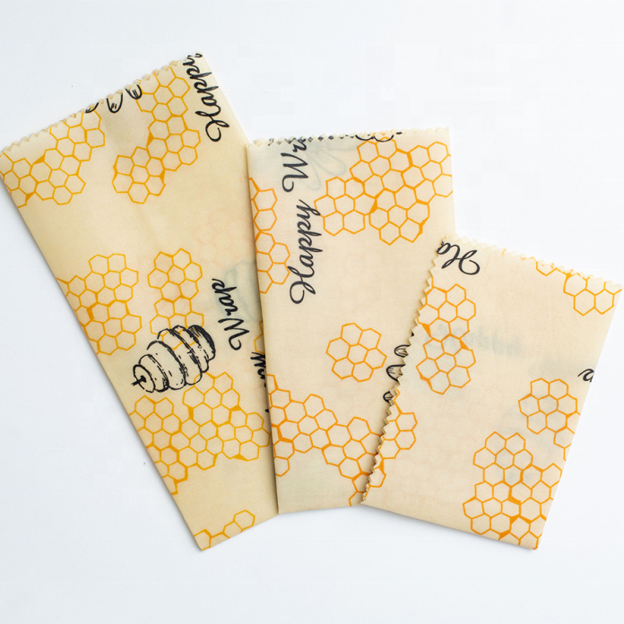 2021 Hot selling Non Toxic Natural Organic Cotton Honey Food wrap Paper Beeswax Food Wrap