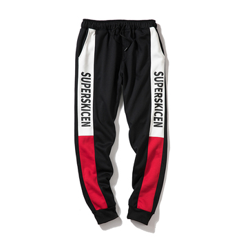 Wholesale Custom Cheap Cargo Sport Pants  Casual Custom Printed Gym Sports Pants Men