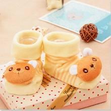 1 пара носков; Модные нескользящие носки с милым рисунком для новорожденных девочек и мальчиков; Тапочки; Ботинки; Высококачественная хлопк...(China)