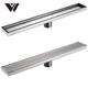Weldon custom stainless steel bathroom sink corner sink Channel shower Linear Drain