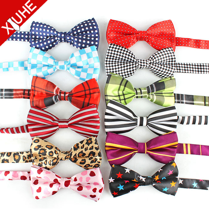 Bowties Men,2 Pieces, Red/black/blue/white/pink/green