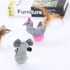 New Design funny mouse chicken shape cat interactive toy with feather plush pet toy for catch chase