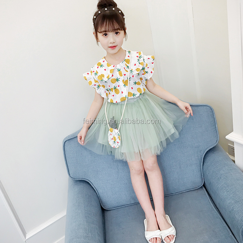Wholesale children clothes set girls clothing sets summer kids clothing baby clothes