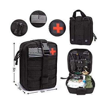 Çevre dostu askeri taktik İlk yardım çantası tıbbi malzemeler, hayatta kalma seti ile kendini savunma silahları, vb.
