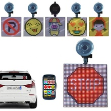 P4-32x32 Fun Screen Emojis Grafische Animatie <span class=keywords><strong>Gif</strong></span> Bluetooth Road Rijden Noodwaarschuwing Slogan Logo LED Auto Display